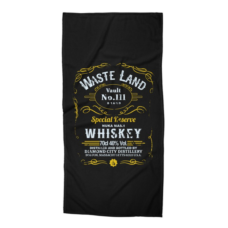 Wasteland Whiskey - distressed Accessories Beach Towel by AMODesign's Artist Shop