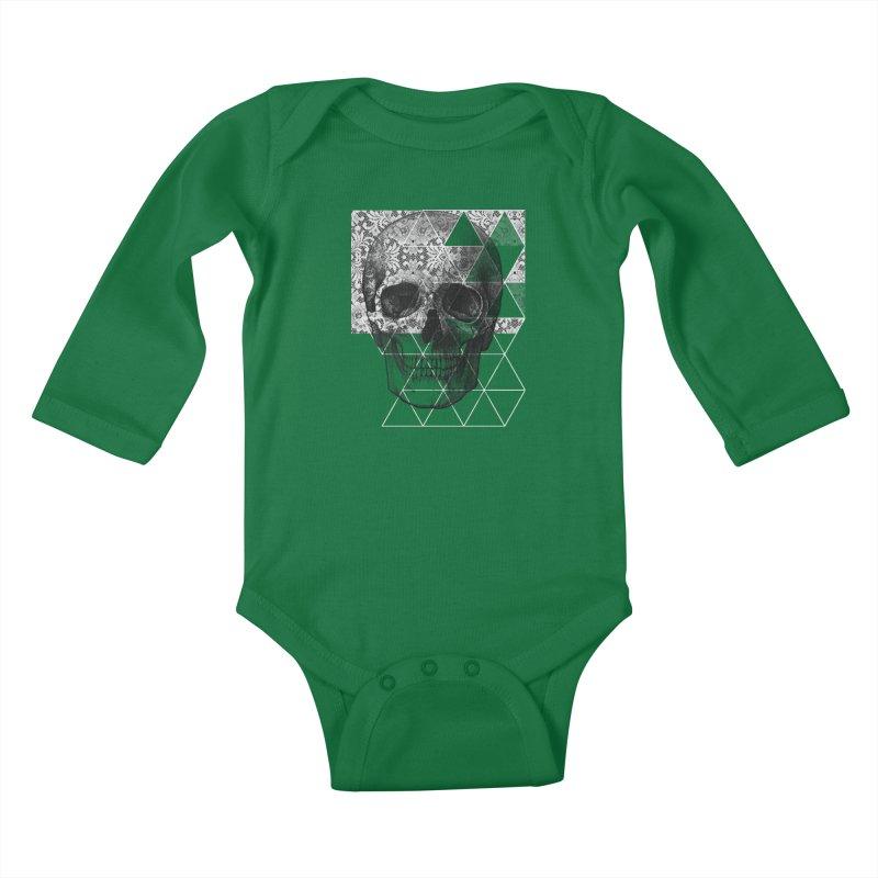 Dias de los Geomuertos Kids Baby Longsleeve Bodysuit by ANTHROPOLESLEY