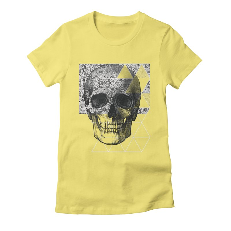 Dias de los Geomuertos Women's Fitted T-Shirt by ANTHROPOLESLEY