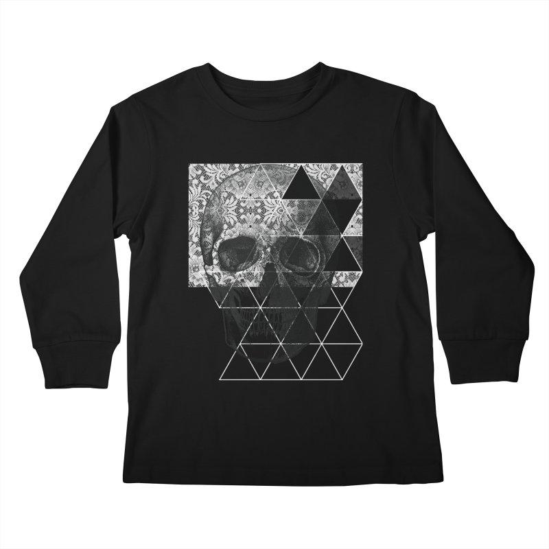 Dias de los Geomuertos Kids Longsleeve T-Shirt by ANTHROPOLESLEY