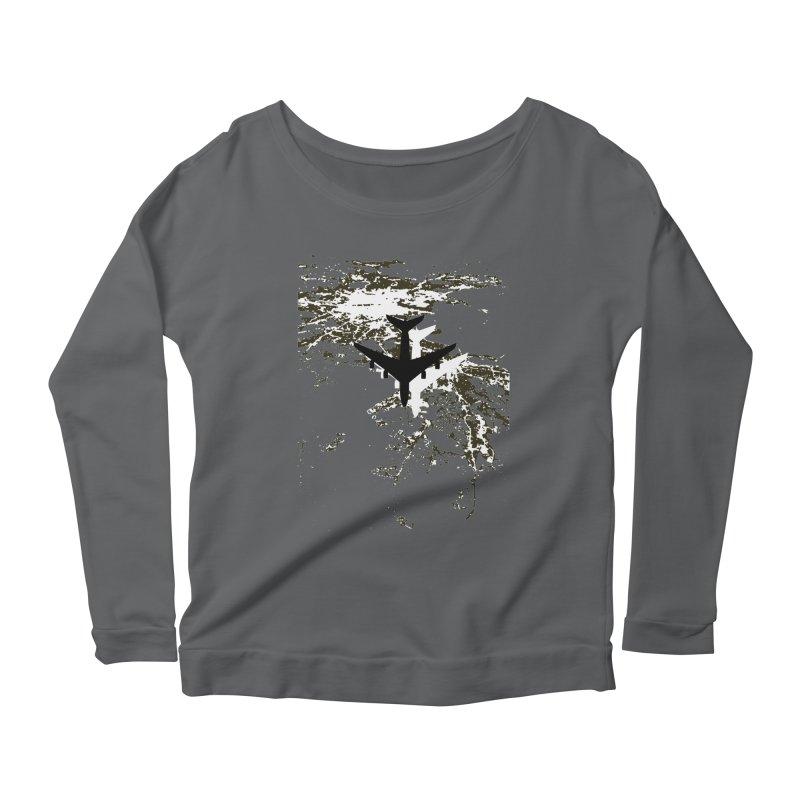 Leaving Boston Women's Scoop Neck Longsleeve T-Shirt by ANTHROPOLESLEY