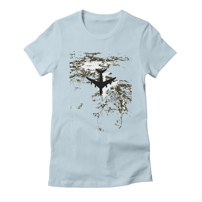 Leaving Boston Women's Fitted T-Shirt by ANTHROPOLESLEY