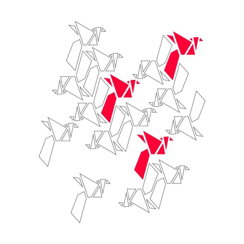 Origami Bird 1 Men's Longsleeve T-Shirt by ANTHROPOLESLEY