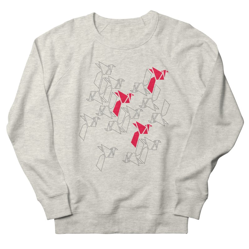 Origami Bird 1 Men's French Terry Sweatshirt by ANTHROPOLESLEY