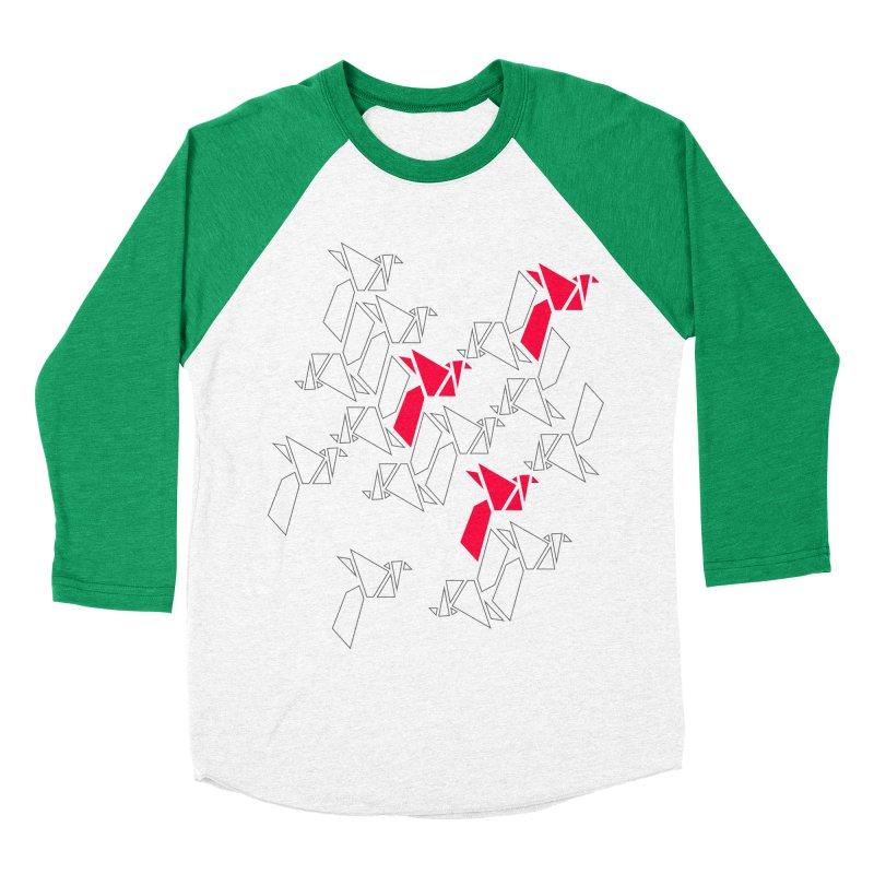Origami Bird 1 Women's Baseball Triblend Longsleeve T-Shirt by ANTHROPOLESLEY