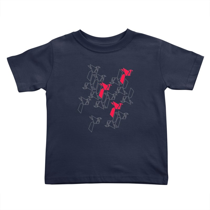 Origami Bird 1 Kids Toddler T-Shirt by ANTHROPOLESLEY