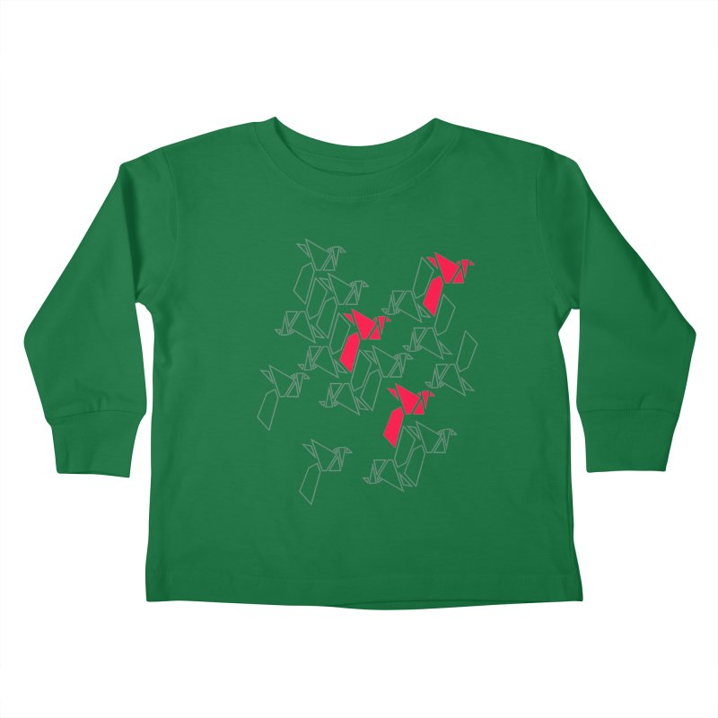 Origami Bird 1 Kids Toddler Longsleeve T-Shirt by ANTHROPOLESLEY