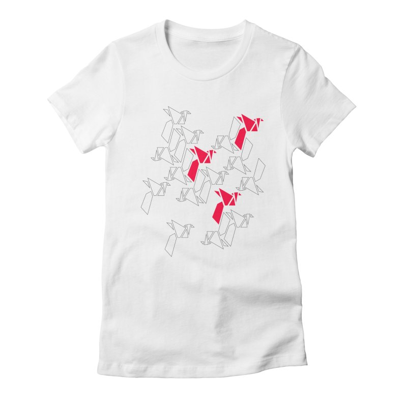 Origami Bird 1 Women's Fitted T-Shirt by ANTHROPOLESLEY