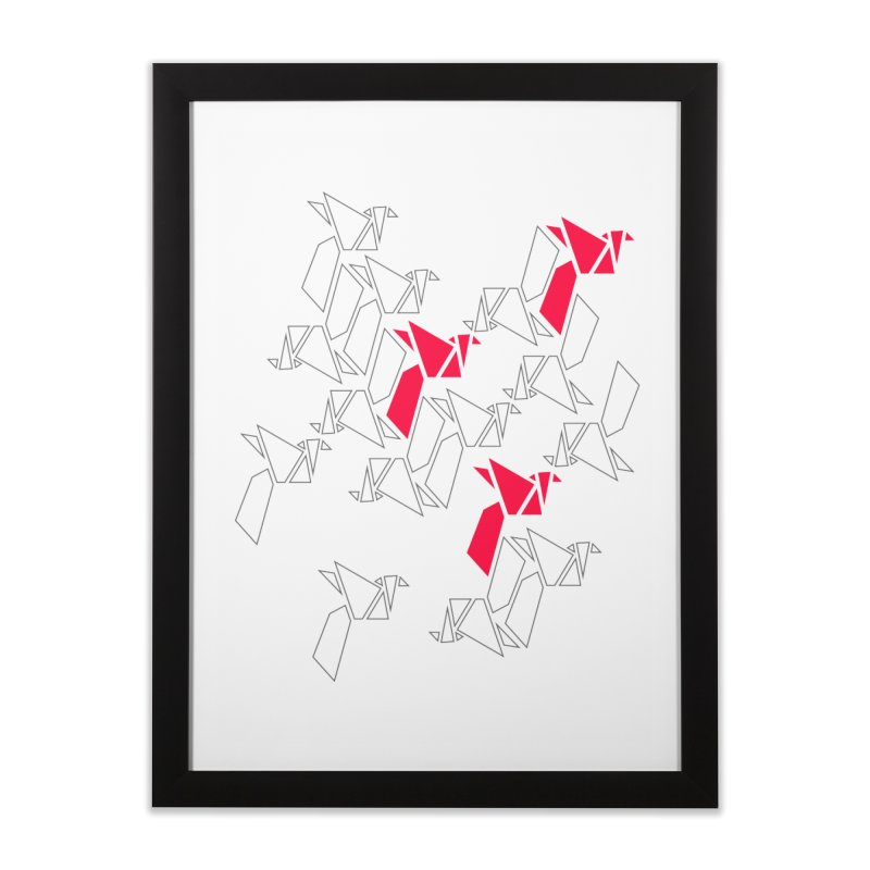 Origami Bird 1 Home Framed Fine Art Print by ANTHROPOLESLEY