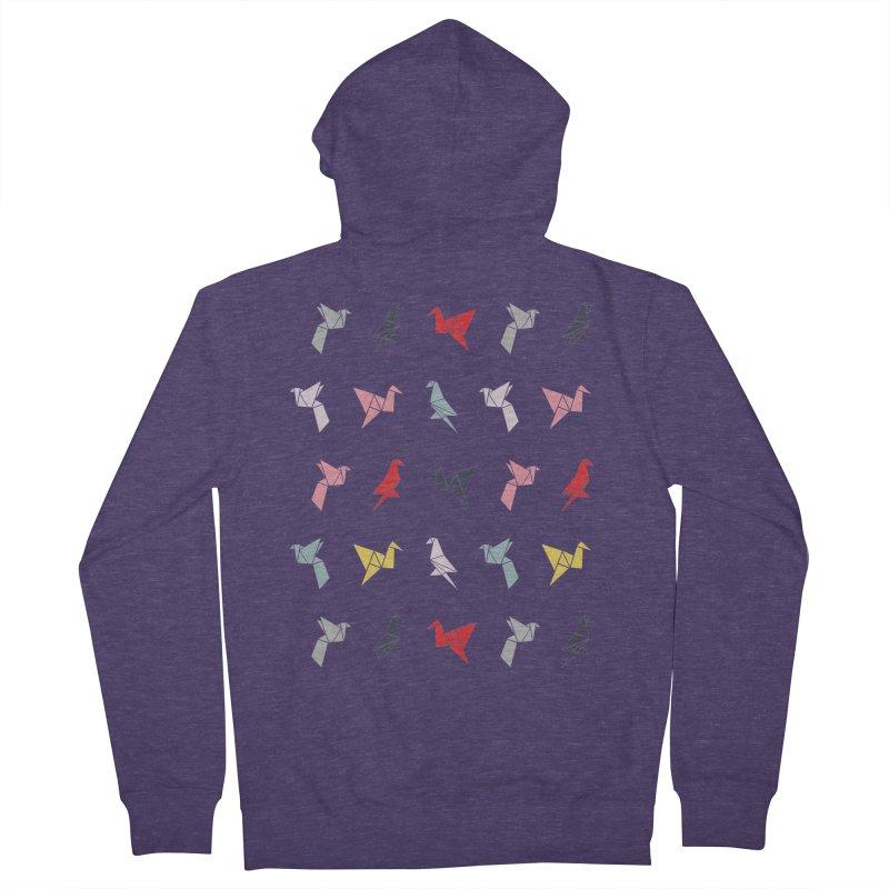 Origami Bird 6 Men's French Terry Zip-Up Hoody by ANTHROPOLESLEY