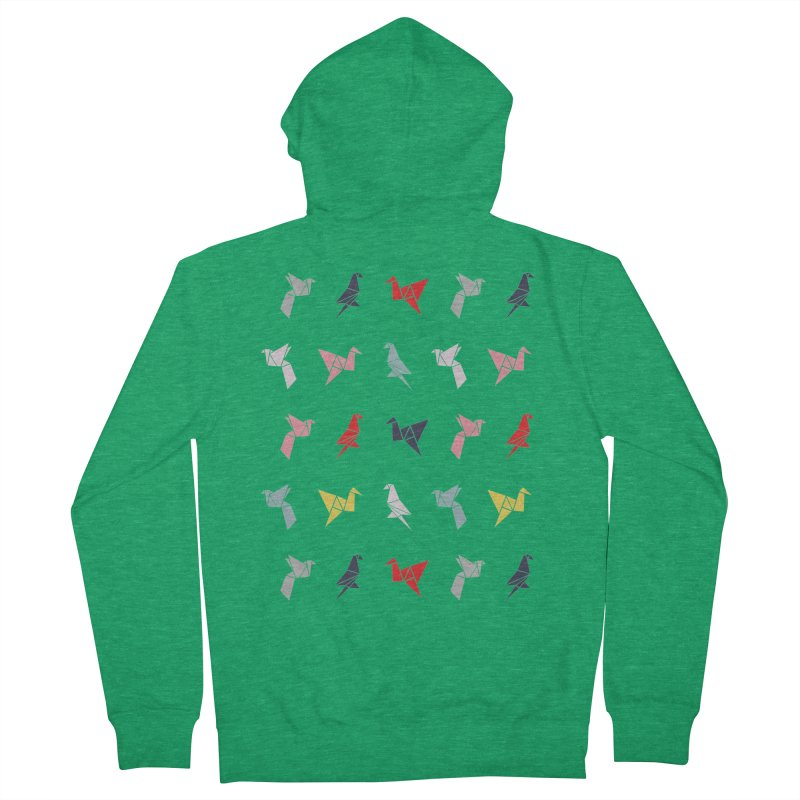 Origami Bird 6 Men's Zip-Up Hoody by ANTHROPOLESLEY
