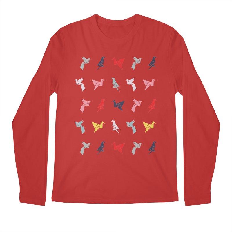Origami Bird 6 Men's Regular Longsleeve T-Shirt by ANTHROPOLESLEY
