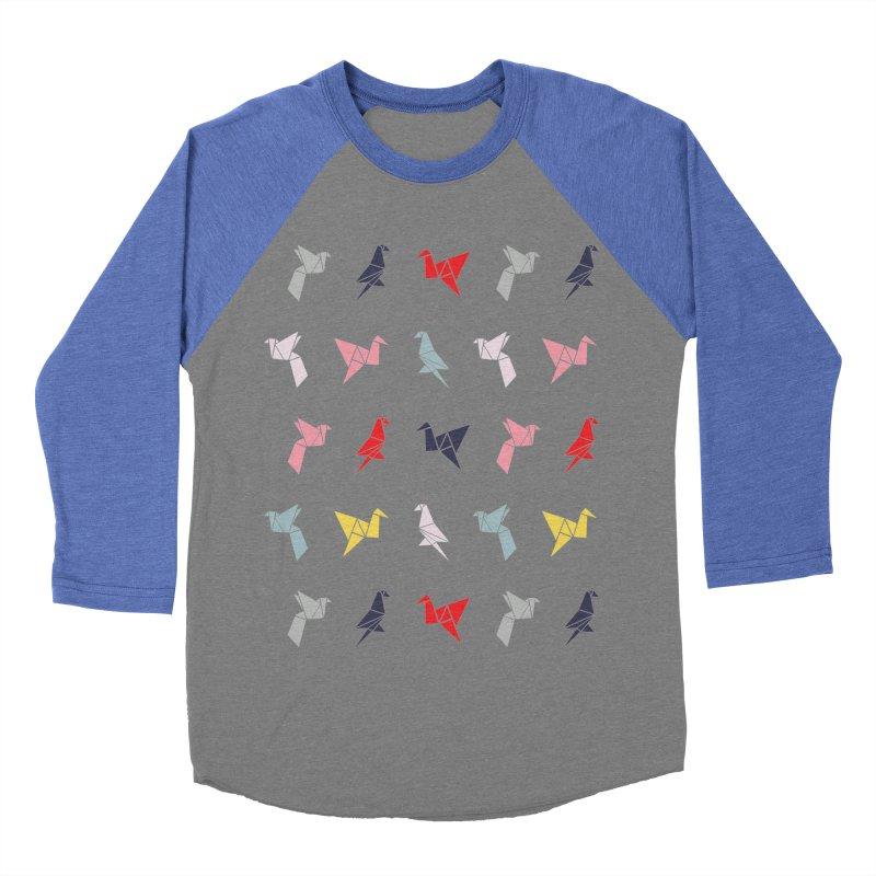Origami Bird 6 Women's Baseball Triblend Longsleeve T-Shirt by ANTHROPOLESLEY
