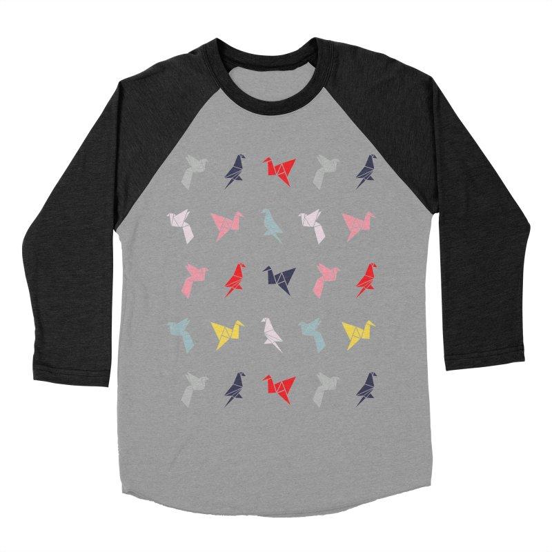 Origami Bird 6 Men's Baseball Triblend Longsleeve T-Shirt by ANTHROPOLESLEY