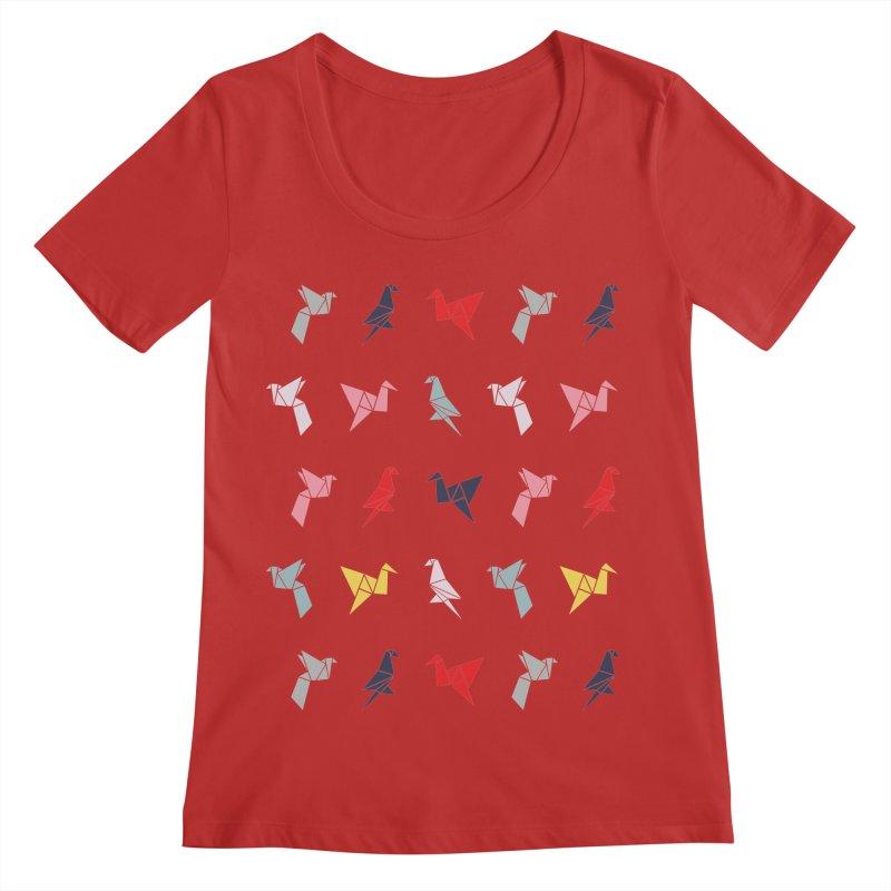 Origami Bird 6 Women's Regular Scoop Neck by ANTHROPOLESLEY