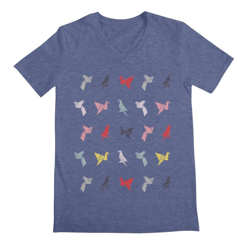 Origami Bird 6 Men's Regular V-Neck by ANTHROPOLESLEY