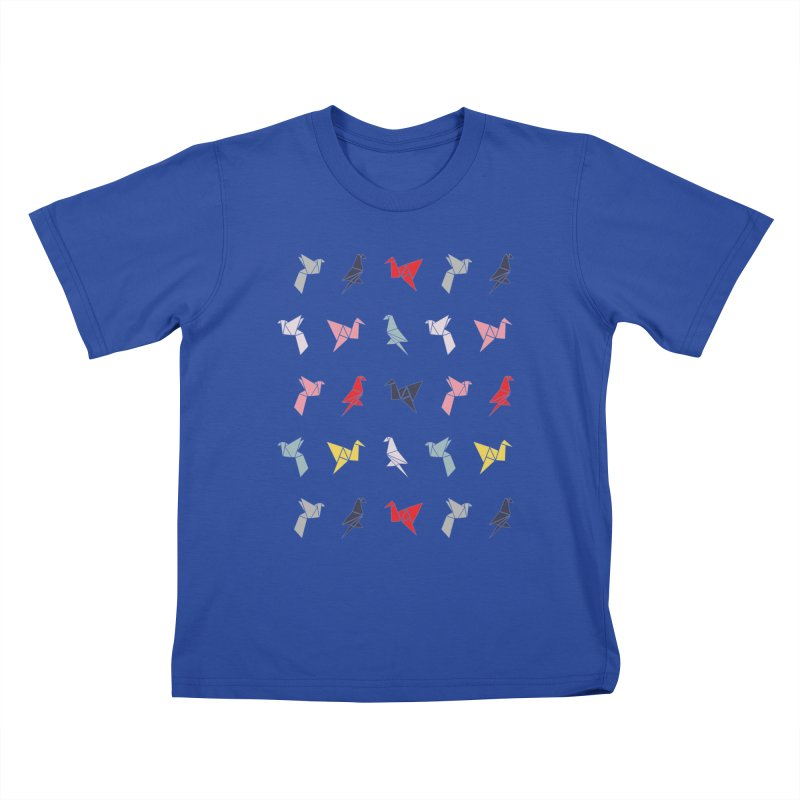 Origami Bird 6 Kids T-Shirt by ANTHROPOLESLEY