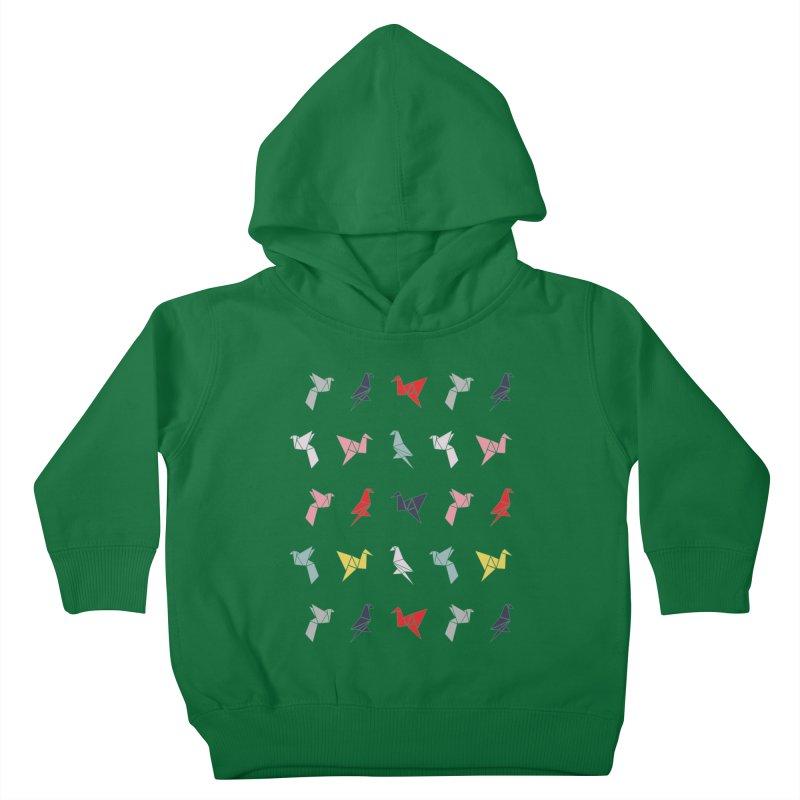 Origami Bird 6 Kids Toddler Pullover Hoody by ANTHROPOLESLEY