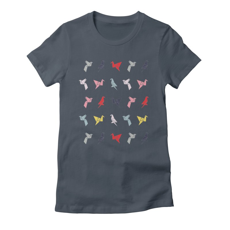 Origami Bird 6 Women's Fitted T-Shirt by ANTHROPOLESLEY