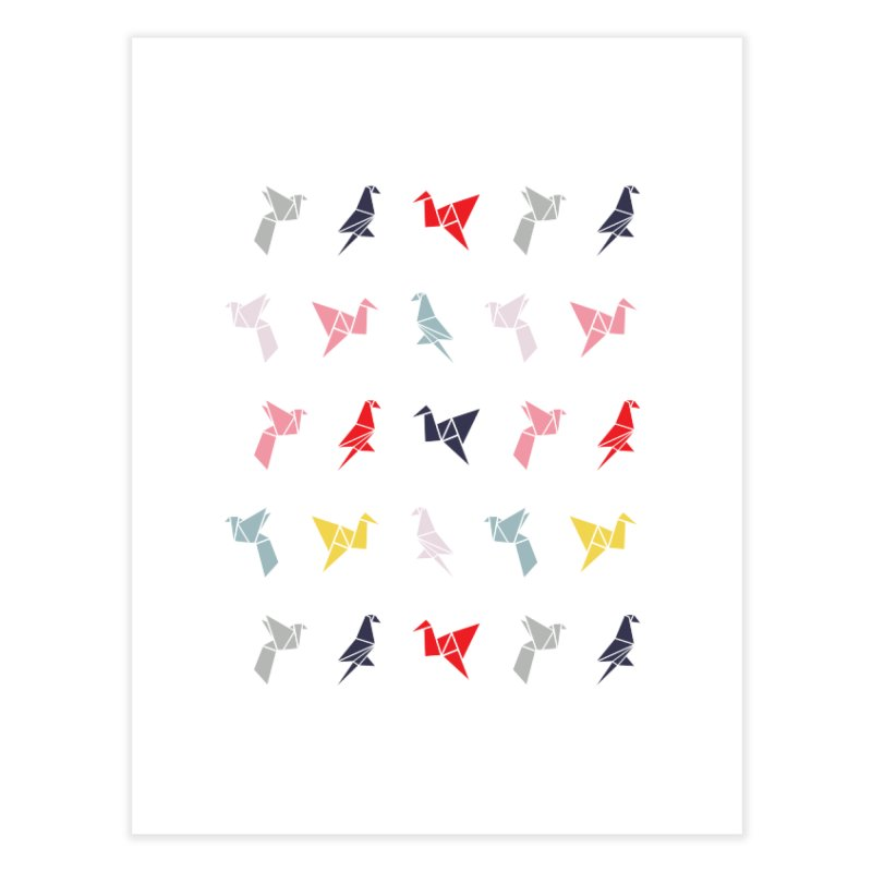 Origami Bird 6 Home Fine Art Print by ANTHROPOLESLEY