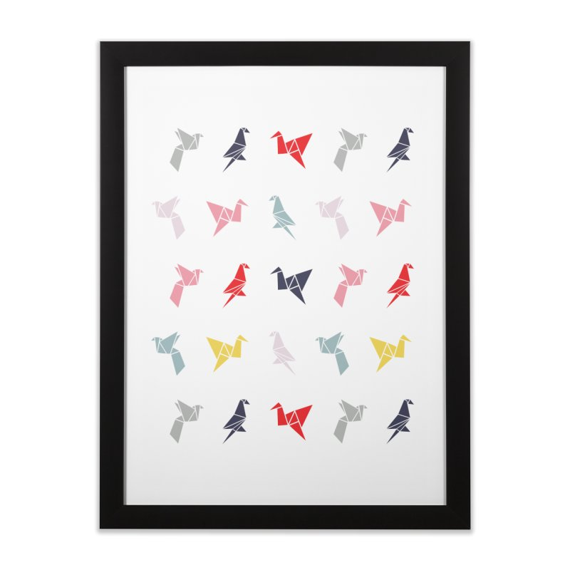 Origami Bird 6 Home Framed Fine Art Print by ANTHROPOLESLEY