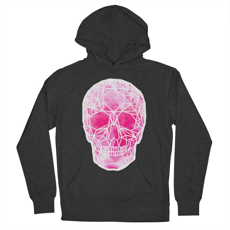 Crystal Skull Pink Women's French Terry Pullover Hoody by ANTHROPOLESLEY