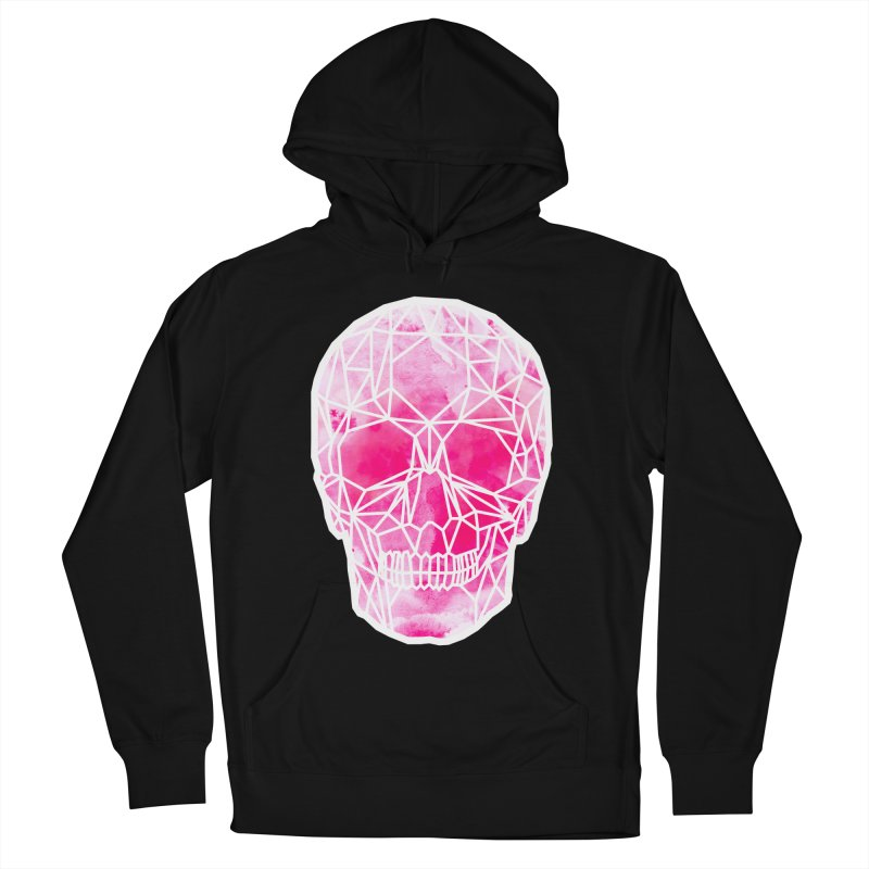 Crystal Skull Pink Men's French Terry Pullover Hoody by ANTHROPOLESLEY