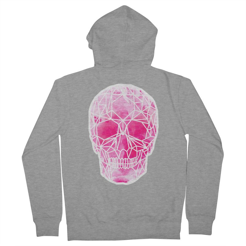 Crystal Skull Pink Women's French Terry Zip-Up Hoody by ANTHROPOLESLEY