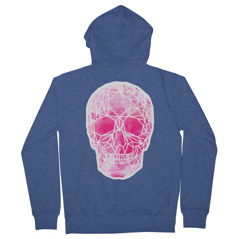 Crystal Skull Pink Men's French Terry Zip-Up Hoody by ANTHROPOLESLEY