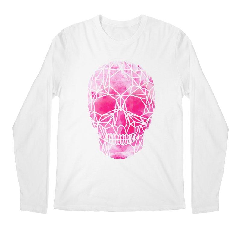Crystal Skull Pink Men's Regular Longsleeve T-Shirt by ANTHROPOLESLEY