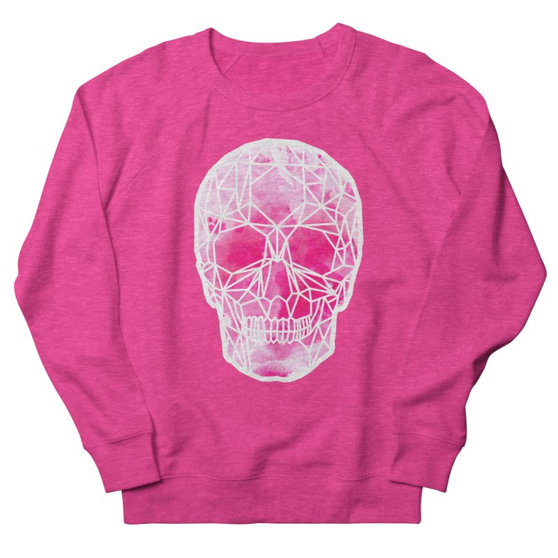 Crystal Skull Pink Women's French Terry Sweatshirt by ANTHROPOLESLEY