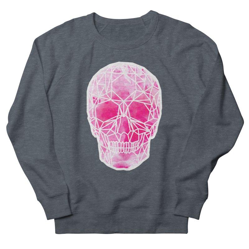 Crystal Skull Pink Men's French Terry Sweatshirt by ANTHROPOLESLEY