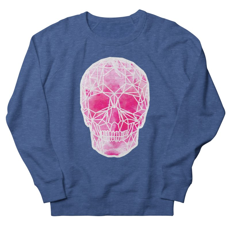Crystal Skull Pink Men's French Terry Sweatshirt by ANTHROPOLESLEY