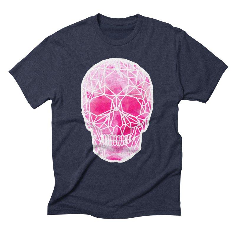 Crystal Skull Pink Men's Triblend T-Shirt by ANTHROPOLESLEY