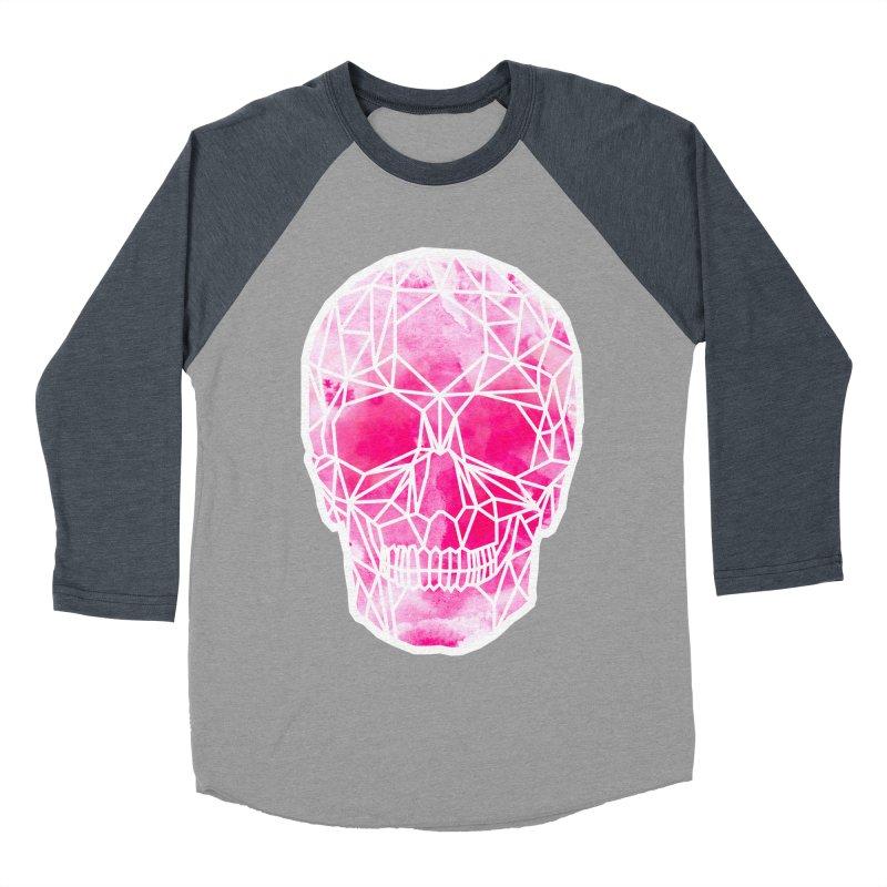 Crystal Skull Pink Men's Baseball Triblend Longsleeve T-Shirt by ANTHROPOLESLEY