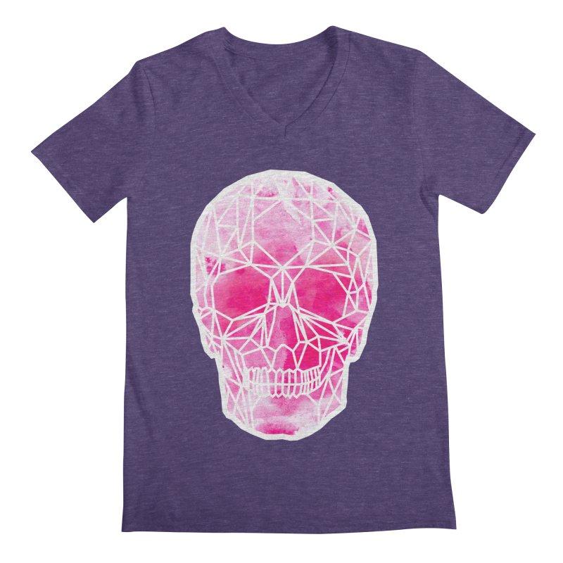 Crystal Skull Pink Men's Regular V-Neck by ANTHROPOLESLEY