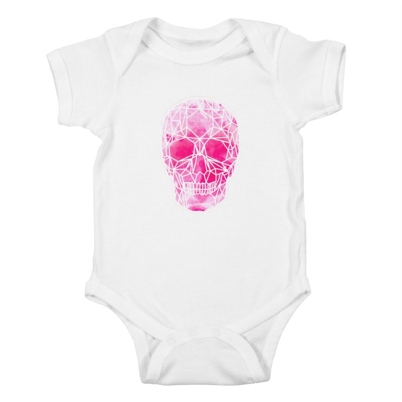 Crystal Skull Pink Kids Baby Bodysuit by ANTHROPOLESLEY