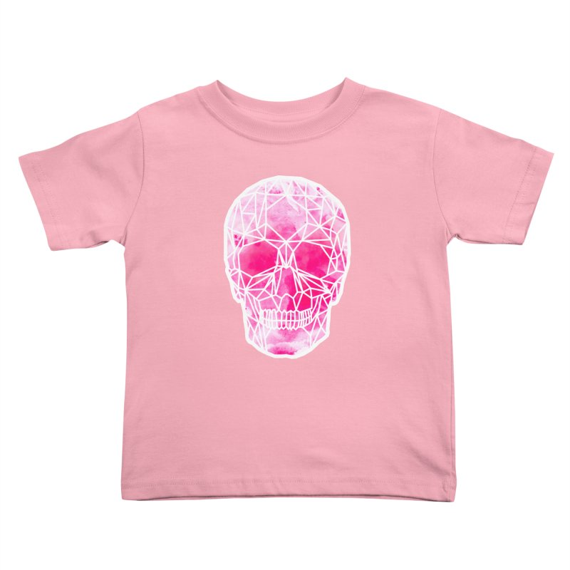 Crystal Skull Pink Kids Toddler T-Shirt by ANTHROPOLESLEY