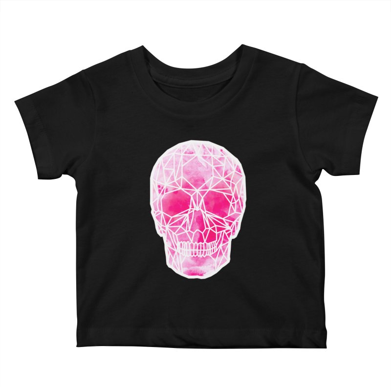 Crystal Skull Pink Kids Baby T-Shirt by ANTHROPOLESLEY