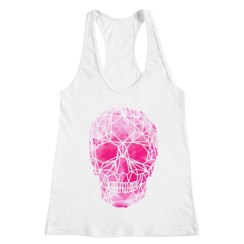 Crystal Skull Pink Women's Racerback Tank by ANTHROPOLESLEY