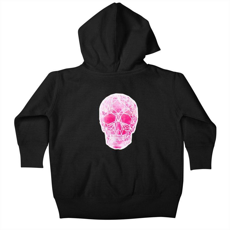 Crystal Skull Pink Kids Baby Zip-Up Hoody by ANTHROPOLESLEY