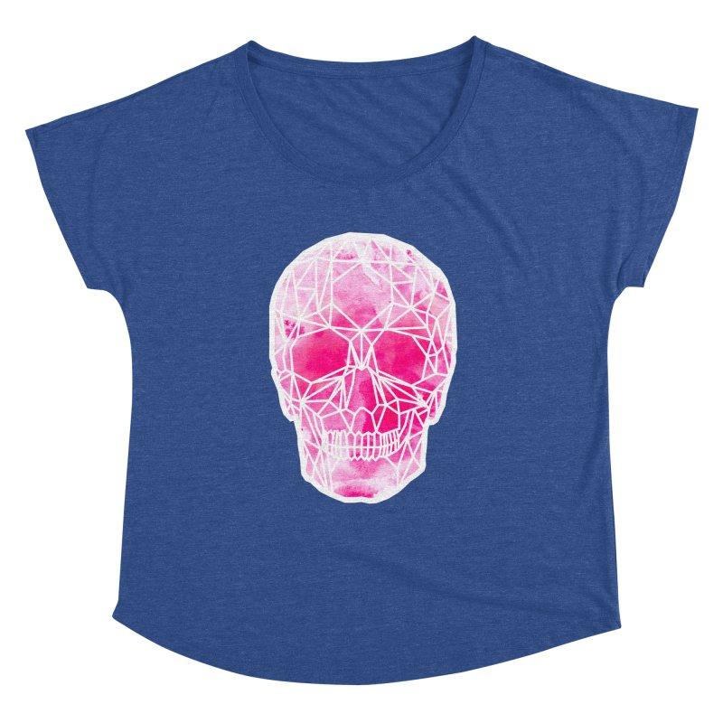Crystal Skull Pink Women's Dolman Scoop Neck by ANTHROPOLESLEY