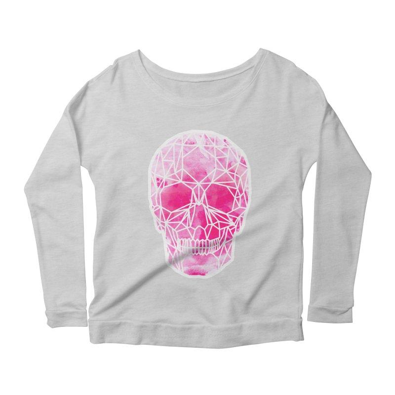 Crystal Skull Pink Women's Scoop Neck Longsleeve T-Shirt by ANTHROPOLESLEY