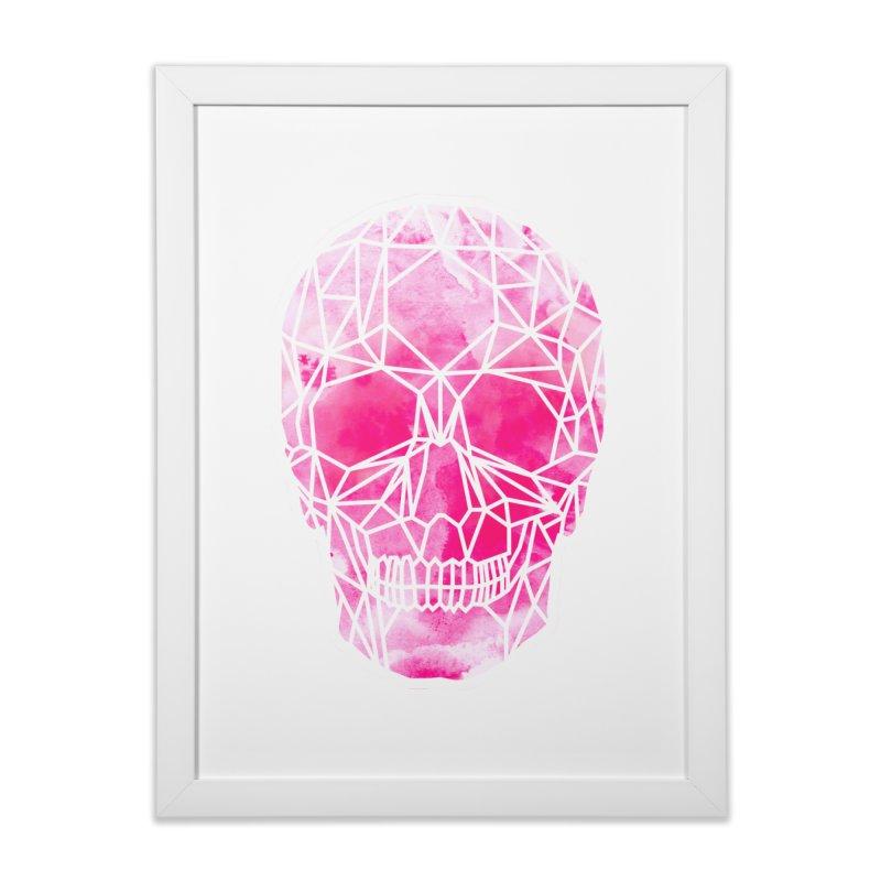 Crystal Skull Pink Home Framed Fine Art Print by ANTHROPOLESLEY