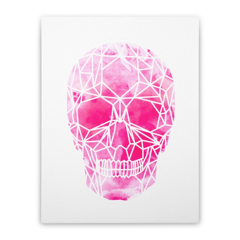 Crystal Skull Pink Home Stretched Canvas by ANTHROPOLESLEY