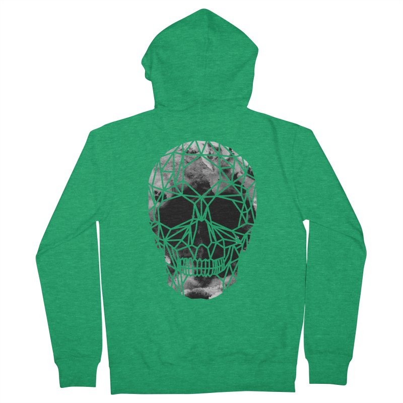 Crystal Skull B+W Infrared Women's Zip-Up Hoody by ANTHROPOLESLEY