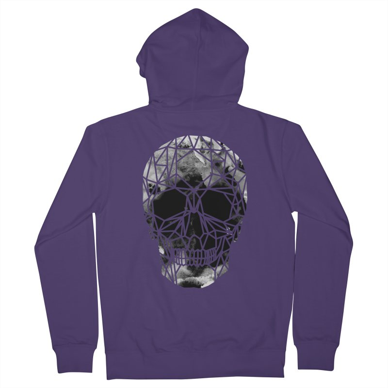 Crystal Skull B+W Infrared Women's French Terry Zip-Up Hoody by ANTHROPOLESLEY