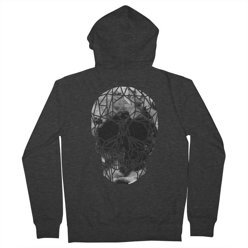 Crystal Skull B+W Infrared Men's French Terry Zip-Up Hoody by ANTHROPOLESLEY