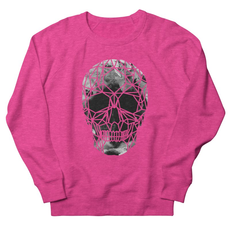 Crystal Skull B+W Infrared Women's French Terry Sweatshirt by ANTHROPOLESLEY