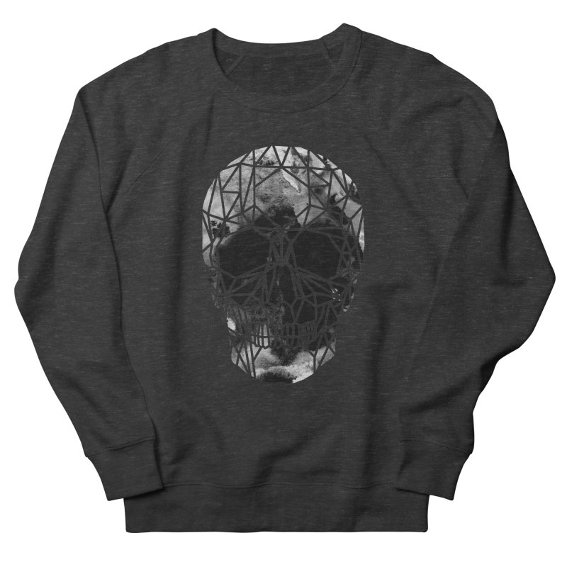 Crystal Skull B+W Infrared Men's French Terry Sweatshirt by ANTHROPOLESLEY